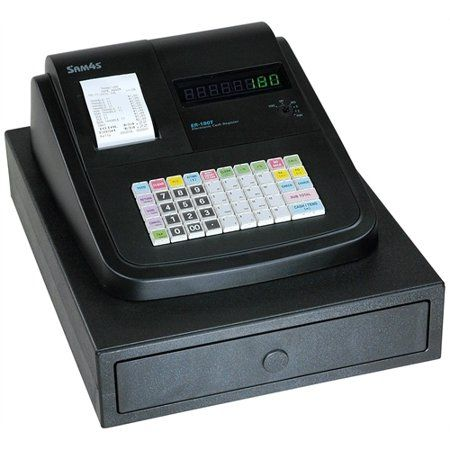SAM4S ER-180U Cash Register Removable Keycaps Thermal Printer Rear Display (Select Drawer Size)