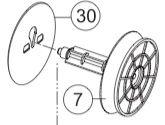 SAM4S ER-5200M Rubber Spool & Guide