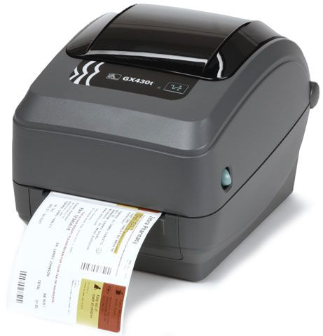 Zebra GX430t Thermal Transfer Label Printer 300dpi (USB, Ethernet) Cutter, Liner and Tag
