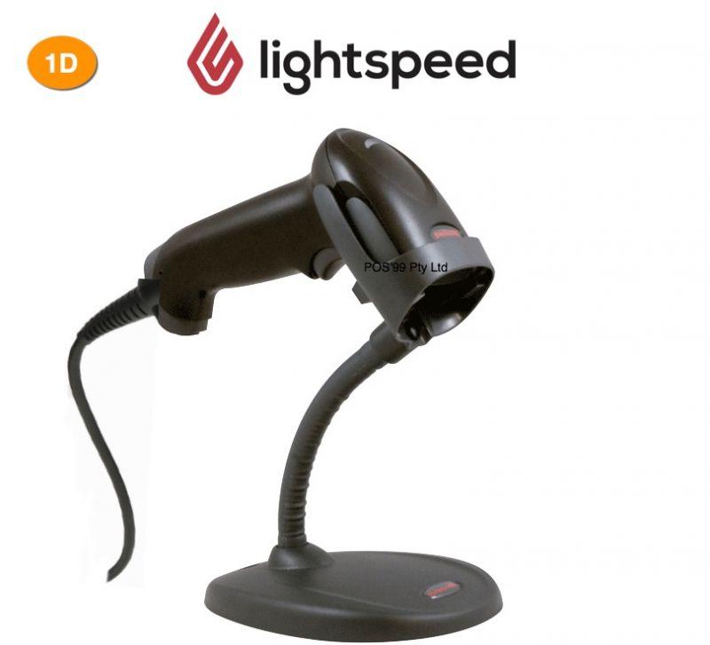 LightSpeed PC / Mac Barcode Scanner 1D USB Stand Black