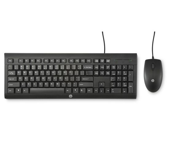 HP Corded Keyboard and Mouse (Black)