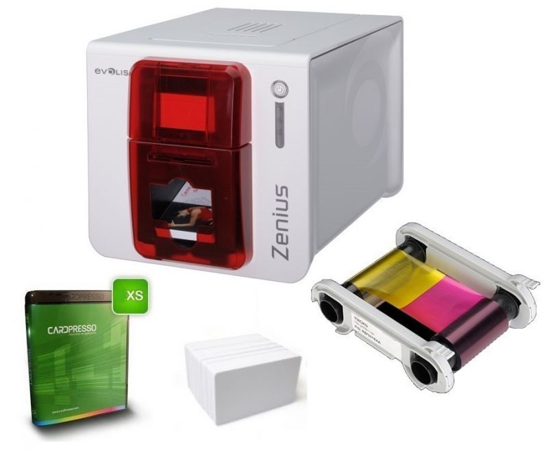 Evolis Zenius Classic Single Sided ID Card Printer Kit USB