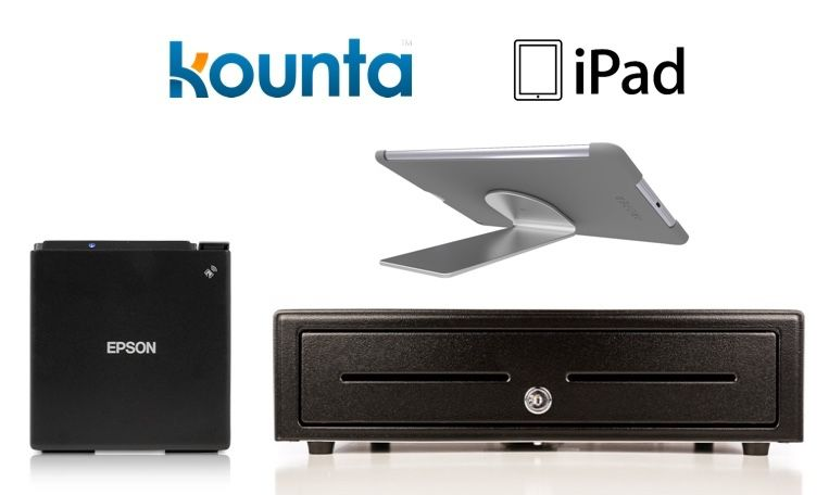Kounta Bundle No.11 - iPad Only Receipt Printer, Cash Drawer , iPad Stand (Optional paper)