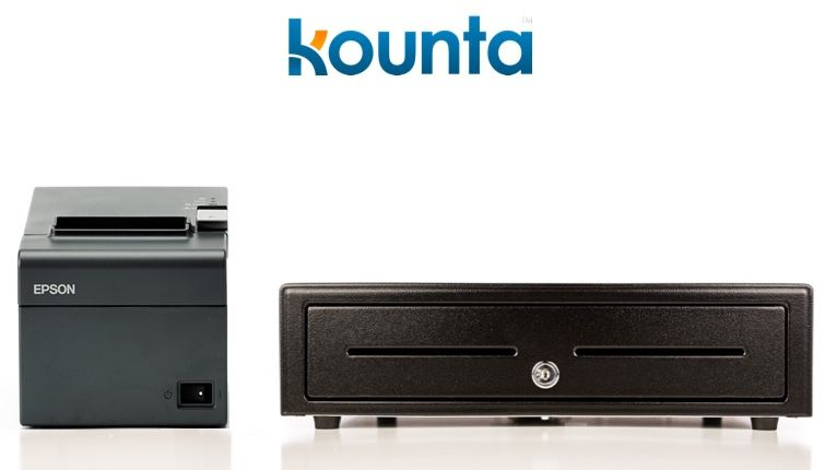 Kounta Bundle No.2 - Mixed Devices Bundle - Receipt Printer & Cash Drawer (Optional Paper)