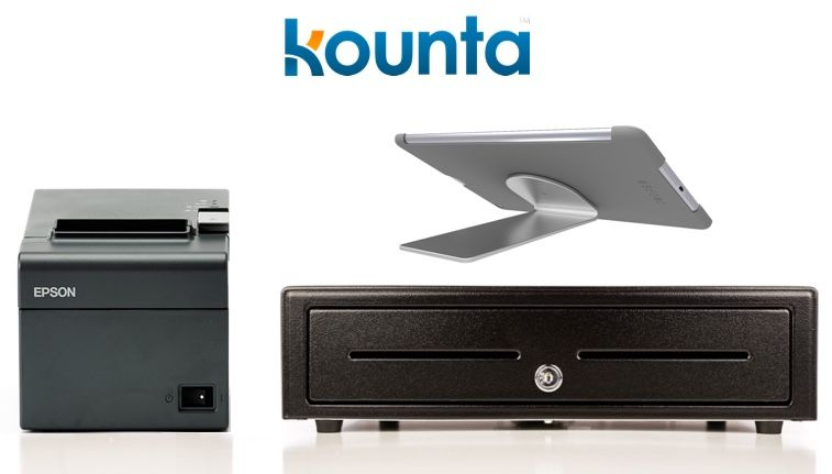 Kounta Bundle No.5 - Mixed Devices Bundle - Receipt Printer & Cash Drawer & iPad Stand (Optional Paper)
