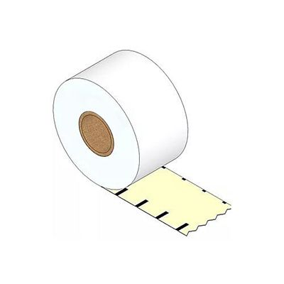 4 x Rolls Linerless Direct Thermal Labels 80mm X 82 meter Black Mark Continuous Removable Restick