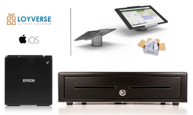 Loyverse POS iPad Bundle - Receipt Printer & Cash Drawer (Optional Paper & iPad Stand)