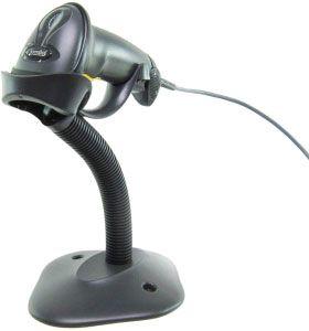 Zebra LI2208-SR Barcode Scanner Black USB Cable, Stand