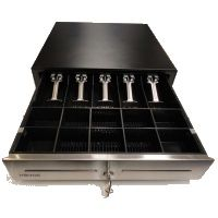 MICROS Cash Drawer EC460 12V Stainless Steel Front