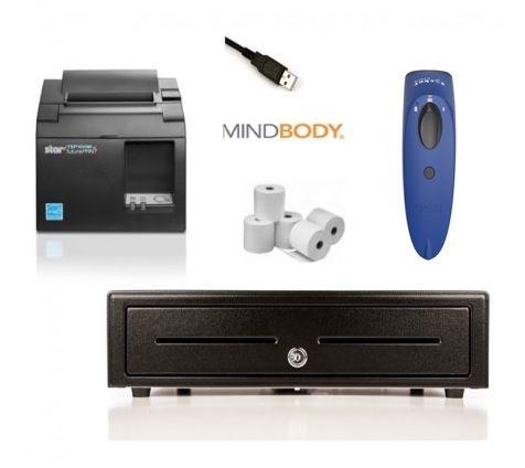 MindBody Apple Mac / Windows PC Bundle no.1 Receipt Printer, Socket Cordless Scanner