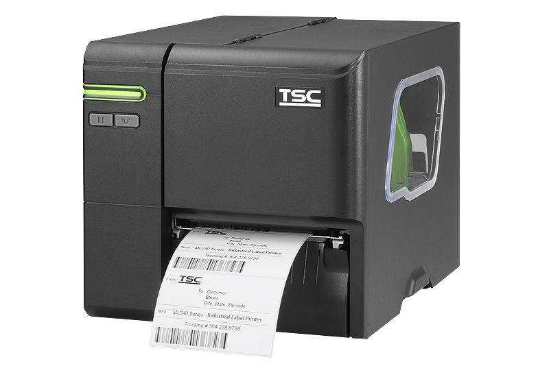 TSC ML240P 4 inch 203 dpi Industrial Thermal Transfer Label Printer (USB, Ethernet)