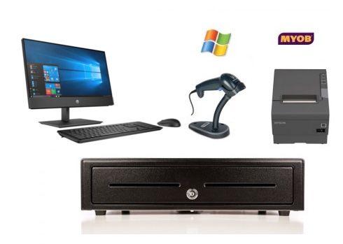 MYOB RetailManager Compatible Bundle Bundle No.2 - HP Computer, Epson Receipt Printer, USB Scanner, Cash Drawer