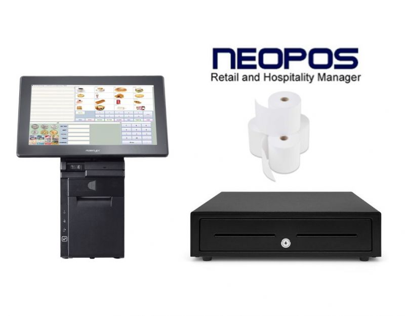 Posiflex HS-3514 NeoPOS Bundle - Complete Hardware and Software Retail & Hospitality Bundle