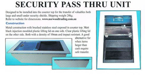 Security Pass Thru Unit