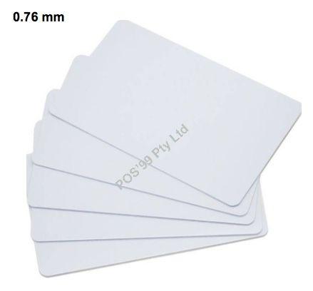 Plain White 0.76mm Card for the ZC300 ID Printer - No Mag Stripe Hi-co (500 units)