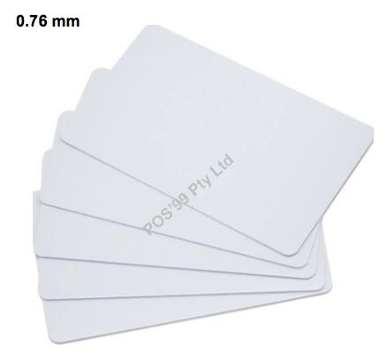 Plain White 0.76mm Card for the ZC300 ID Printer - With Mag Stripe Hi-co (500 units)