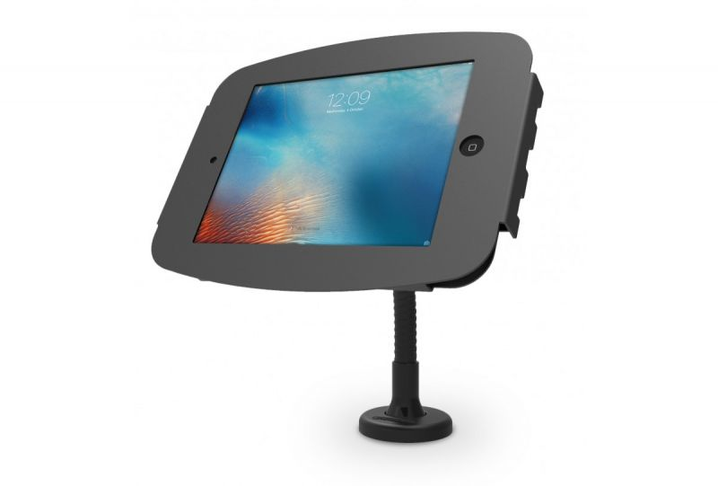 POS iPad / Samsung Galaxy Bolt Down Stand With Flexible Arm Desk Mount - Black Or White