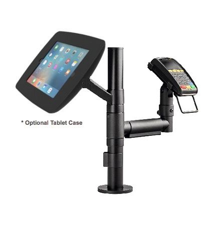 iPad / Galaxy / Surface Pro / Tablet Vesa Display Pole & EFTPOS Mount Combo (Optional Tablet Enclosure)