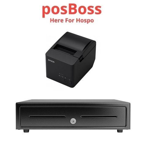 Apple IPad POSBOSS Bundle No.2 EPSON Network Receipt Printer, Cash Drawer TM-T82IIIL