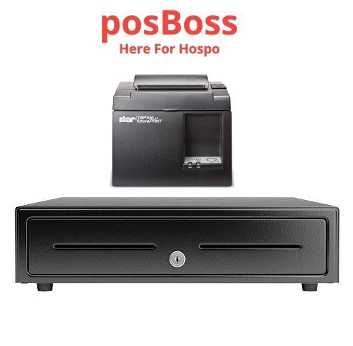 Apple iPad POSBOSS Bundle No.1 STAR Network, Bluetooth or Wifi Receipt Printer, Cash Drawer