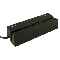POSIFLEXMR-2200 Dual Head MSR 3 Track USB Or RS232 Interface Black