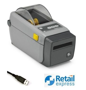 Retail Express Compatible 2-inch Label & Wristband Printer (USB/Bluetooth)