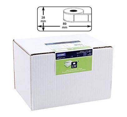 BULK BUY 24 Rolls of Dymo Standard  Address / Barcode Labels (24 Rolls x 130 LPR, 28mm X 89mm, Permanent, White)
