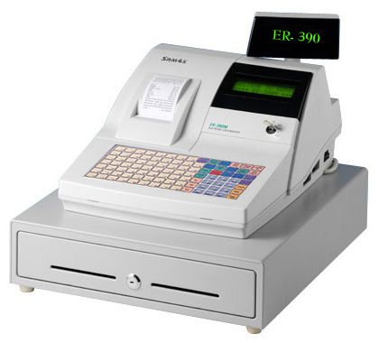 Sam4S ER-390M Cash Register with Membrane Keyboard, 1 Station 57mm Thermal printer, Ivory