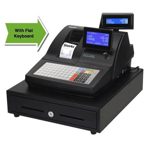 SAM4S NR-520 Cash Register Flat Or Raised Keyboard 2 Station Thermal printer