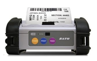 SATO MB400i Direct Thermal 4 inch Portable Label Printer (203dpi, Wireless LAN (W4), IRDA, Serial/RS232, Bluetooth, USB)