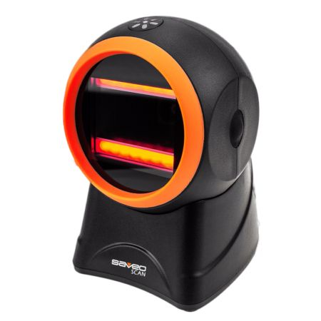 Saveo OMNI II 2D Corded Omnidirectional Desktop Handsfree Scanner
