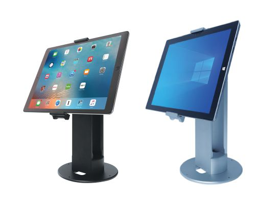 FlexiPOS Universal POS Tablet Stand with Optional Dual Display Bracket (Black or Silver)