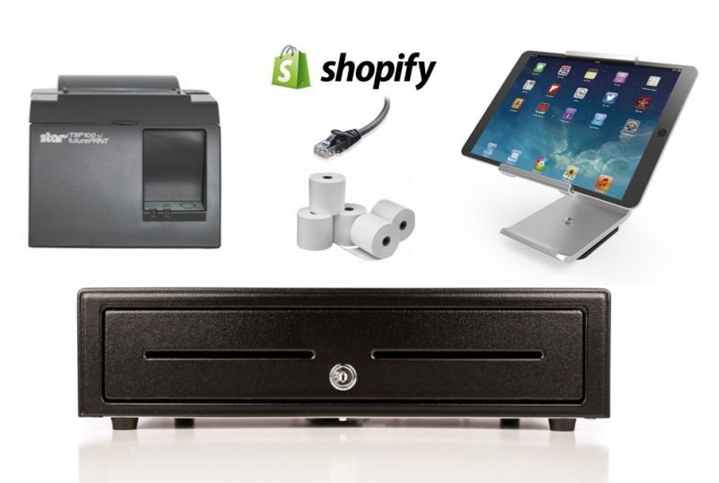 Shopify Bundle No.8 - STAR Network Printer, iPad Stand, Cash Drawer, Paper