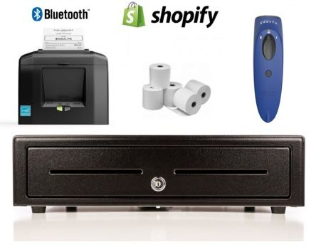 Shopify Bundle No.12 - STAR Bluetooth Printer, Socket Scanner, Cash Drawer, Paper