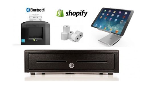 Shopify Bundle No.5 - STAR Bluetooth Printer, iPad Stand, Cash Drawer, Paper