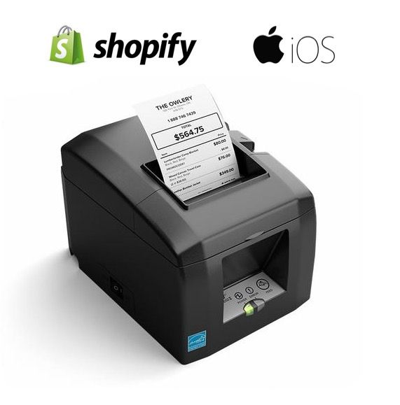 Shopify POS & iPad Compatible Receipt Printer (With Autocutter)