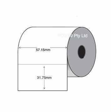 Thermal Transfer Labels 57mm x 32mm x 25mm (2 Rolls Of 2,000) White Mylar Asset Labels