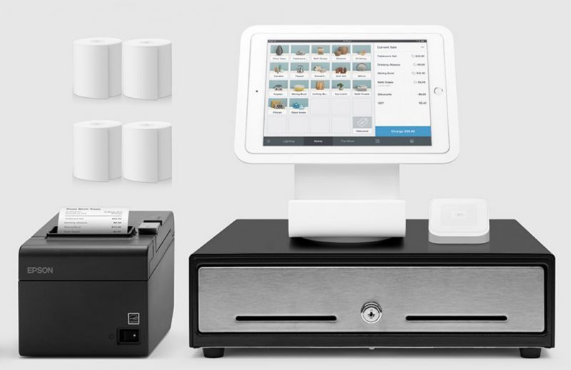 Square Stand Kit for iPad with Receipt Printer (Optional iPad, Paper & Scanner)