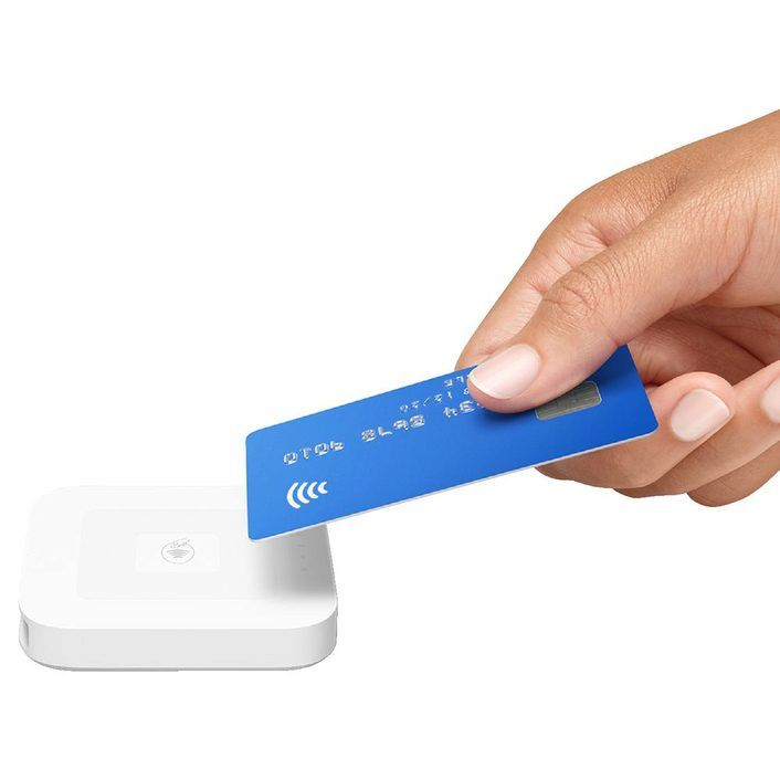 Square Reader for Contactless and Chip Cards for Smartphones and Tablets (Optional Charging Dock)