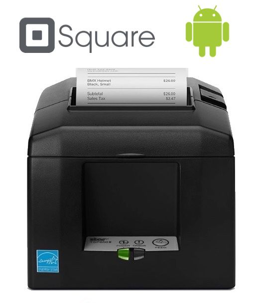 Square Point of Sale ANDROID Compatible Receipt / Docket Printer (With Autocutter)