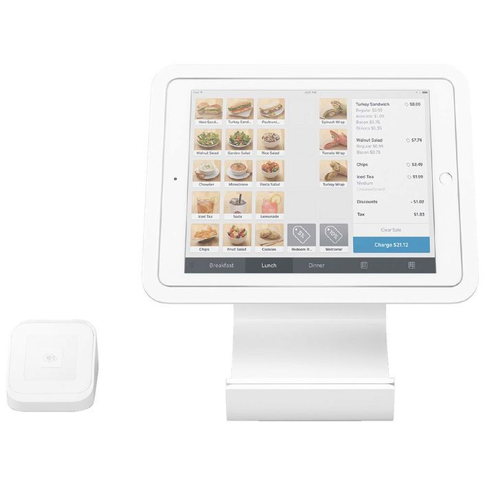 Square POS Stand and Contactless Chip Card Reader  (Optional Printer and Drawer)