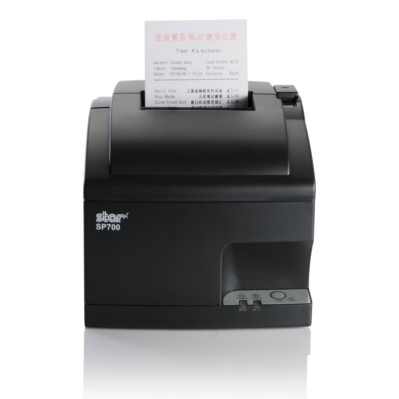 Star Micronics SP742 CloudPRNT Dot Matrix Printer with Auto Cutter SP742MO2X-GRY