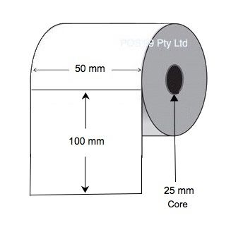 Thermal Transfer Labels 50mm x 100mm x 25mm Or 76mm Core (4 Rolls Of 500) Silver Mylar Asset Labels