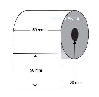 Thermal Transfer Labels 50mm x 50mm x 38mm Core (5 rolls of 1,000) White Mylar Asset Labels
