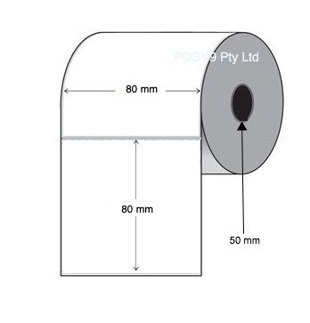 Inkjet Labels 80mm x 80mm Gloss Paper (Epson TMC3500) (Select Quantity)
