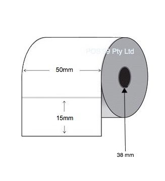 Thermal Transfer Labels 50mm x 15mm x 38mm Core (4 Rolls of 1,000)