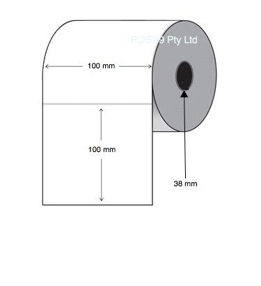 Thermal Transfer Labels 100mm x 100mm x 38mm Core (4 rolls of 1,500)