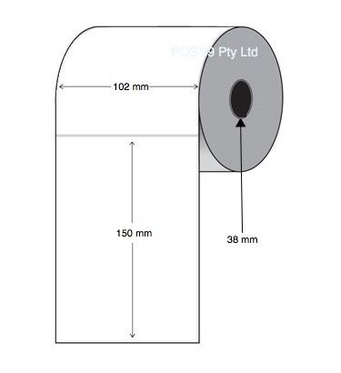 Thermal Transfer Labels 102mm x 150mm x 38mm Core (8 rolls of 350)