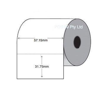 Thermal Transfer Barcode Labels (57.15mm x 31.75mm) 2000 Labels per roll