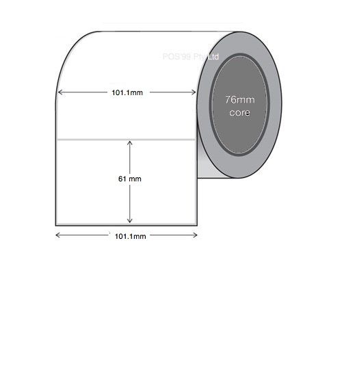 Thermal Transfer Labels Synthetic 101.1mm x 61mm x 76mm Core (5 Rolls of 2,000)